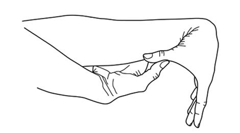 ledbånd i finger